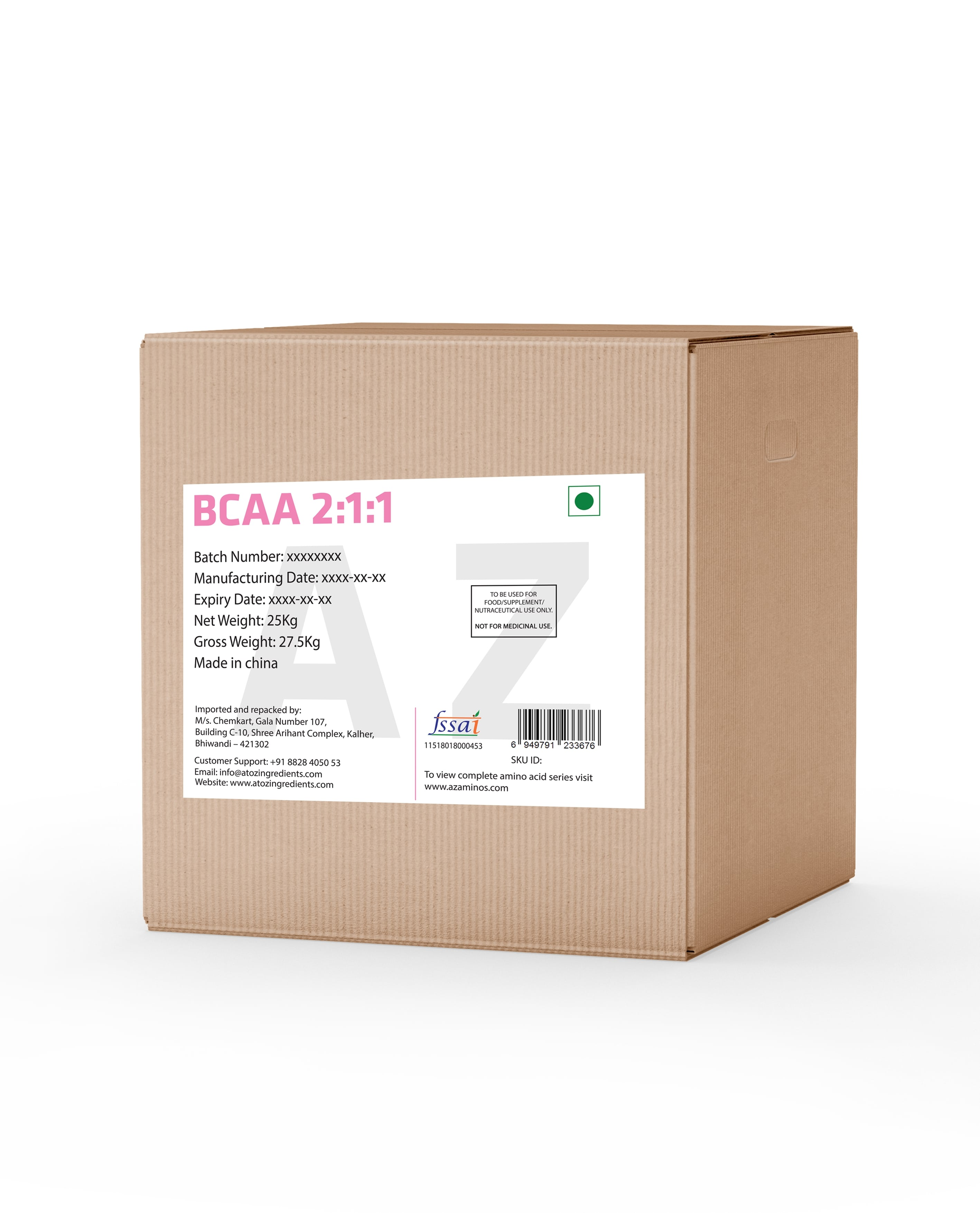 Branched Chain Amino Acid BCAA 2 1 1 Instant (Vegan)